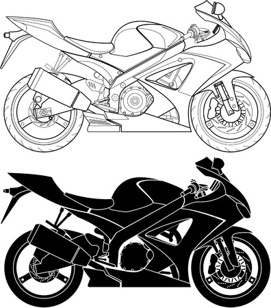 motor transport: motorcycle. Illustration