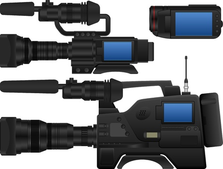 broadcasting: three kinds of  video camera.