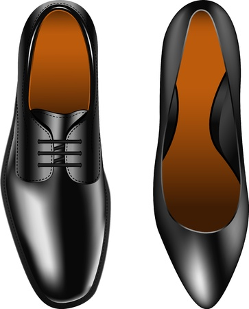 walking shoes: Layered vector illustration of Men and Womens Shoes.