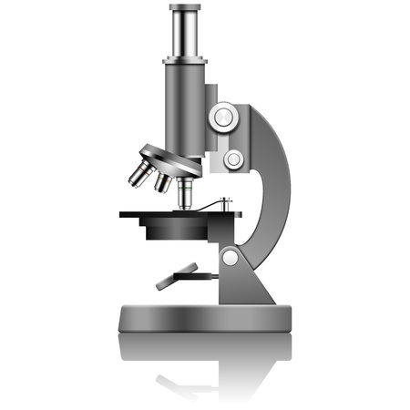 Layered vector illustration of Microscope.