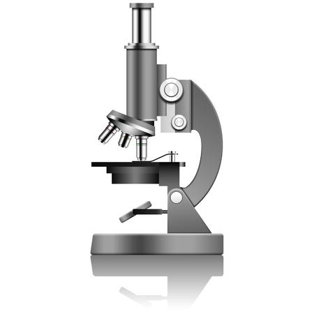 Gelaagde vector illustratie van de microscoop. Vector Illustratie