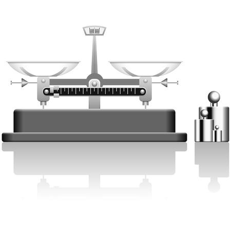 balanza en equilibrio: Ilustraci�n vectorial con capas de escala de equilibrio.