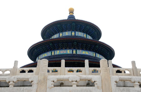 Picture of isolated Temple of Heaven in Beijing,China  photo