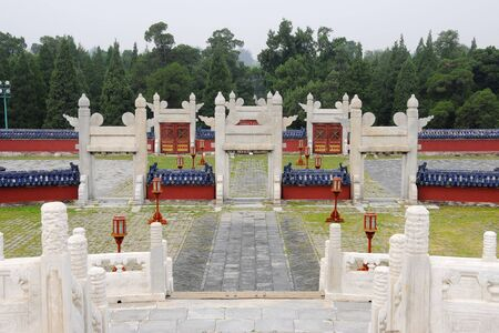 Picture of Chinese ancient garden which is part of the Temple of Heaven in Beijing,China  photo