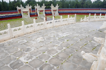 Picture of ancient  round stone ground which is part of Temple of Heaven in Beijing,China  photo
