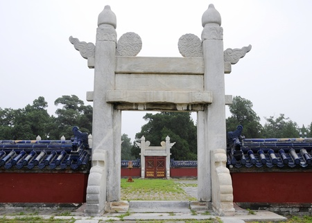 Picture of Chinese ancient stone door at temple of heaven in Beijing,China  photo