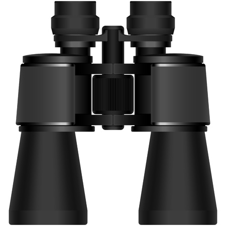 binoculars: Illustration vector of isolated binoculars with white background.