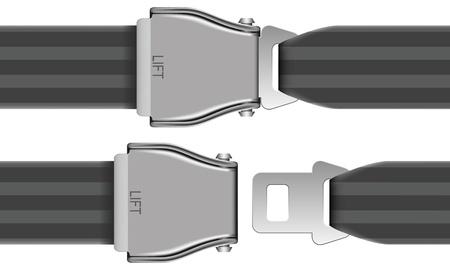cinturon de seguridad: Ilustración vectorial capas de cinturón de seguridad que se utilizará en avión