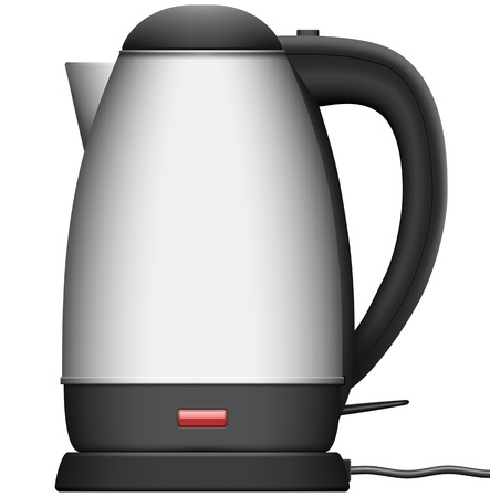 Layered Illustration  of Electric Kettle Stock Vector - 15834306