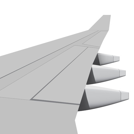 airfoil: Layered  illustration of aerofoil with white background  Illustration