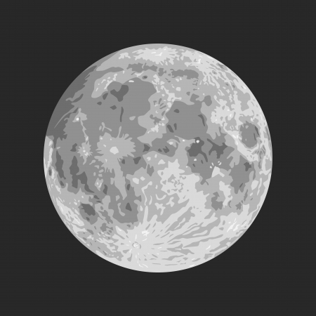 luna: Layered illustration of Moon with black background