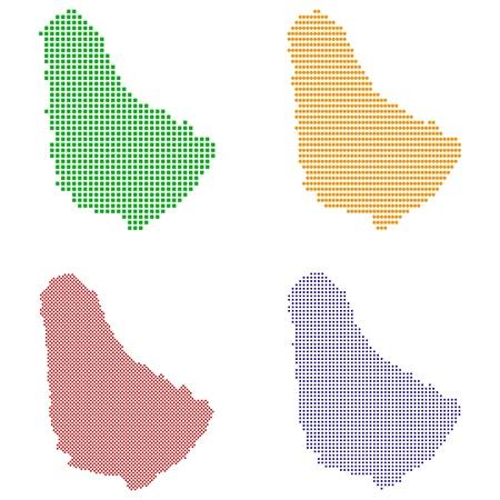 pixelate: illustration pixel map of Barbados