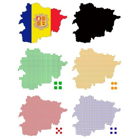 pixelate:  illustration pixel map of Andorra. Illustration