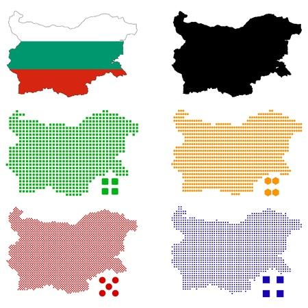 pixelate:  illustration pixel map of Bulgaria.