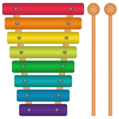 xylophone: Layered vector illustration of Toy Xylophone. Illustration