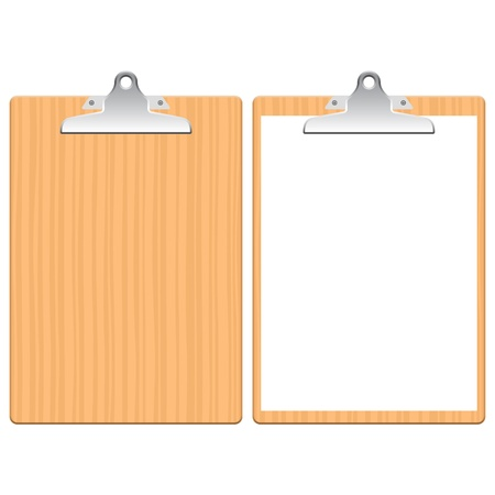 Layered illustration of Clipboard. Vector
