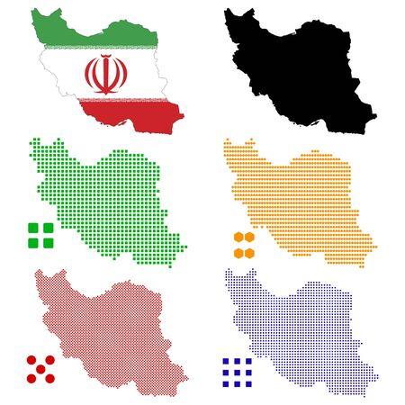 pixelate: Vector illustration pixel map of Iran