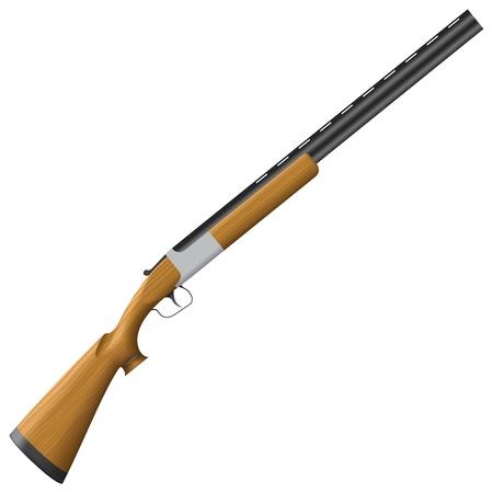 hunting rifle: illustration of isolated Shotgun. Illustration