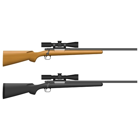 Layered ilustracji izolowane Sniper Rifle.