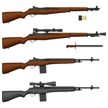 Layered illustration of isolated Rifle.