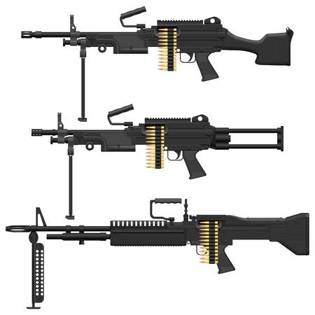shot gun: Layered vector illustration of Machine Gun.