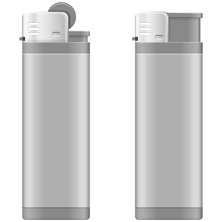 Layered illustration of Lighter. Vector