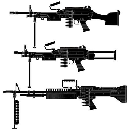 armament: Layered illustration of Machine Gun.