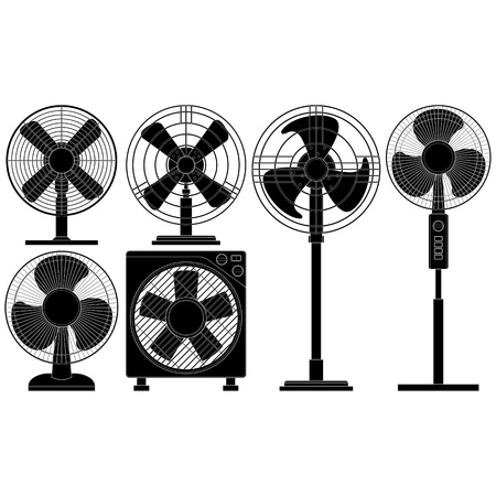 electric grid: Layered illustration of collected Electric Fans.