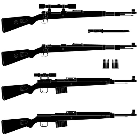 antique rifle: Layered vector illustration of antique Germany Rifle.