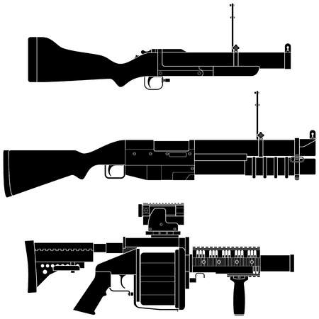 grenade: Layered vector illustration of collected Grenade Launcher.