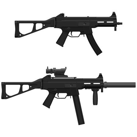 snubber: Layered illustration of Machine Pistol