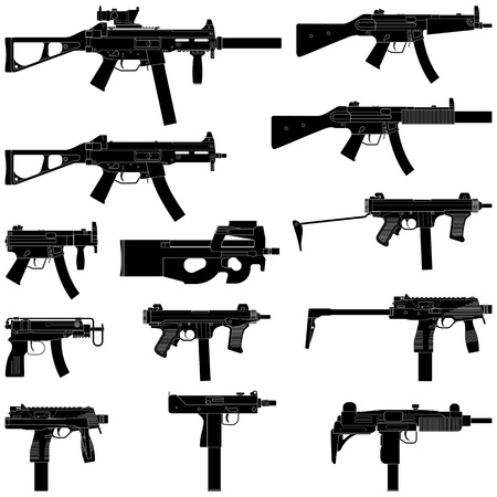 carbine: Layered  illustration of collected Submachine Guns  Illustration