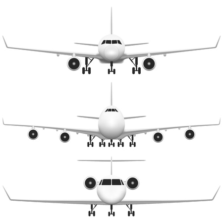 commercial airplane: Layered vector illustration of collected Commercial Airplane
