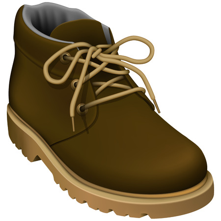 Layered vector illustration of Work Boots. Vector