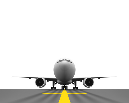 undercarriage: Layered vector illustration of Airplane with Perspective view. Illustration