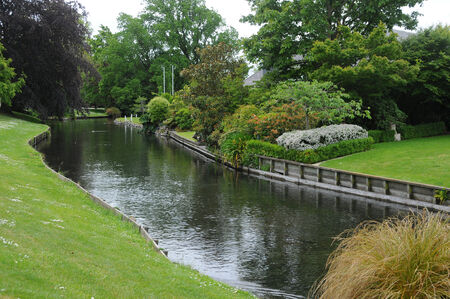 christchurch: Picture of the view of Avon River at Christchurch, New Zealand.