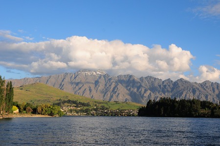 Picture of the view of Lake Wakatipu at Queenstown, New Zealand  photo