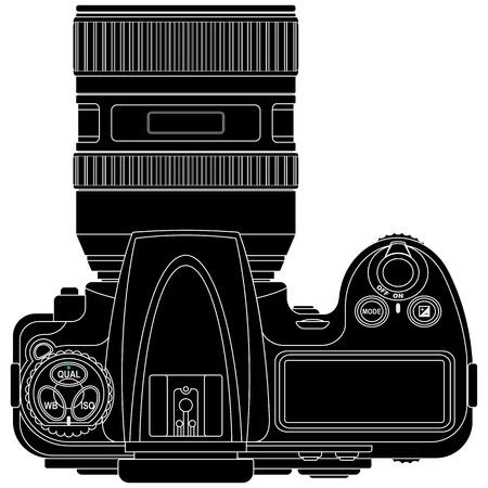 illustraion: layered vector illustraion of Camera.