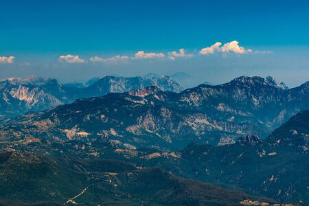 Aerial view from Tahtali mountain, Turkey. Travel concept