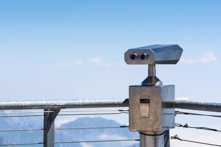 Binoculars vending machine on top of mountain Stock fotó