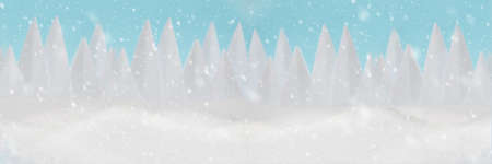 Banner 3: 1. Snowy winter christmas landscape. Merry christmas and happy new year celebration concept