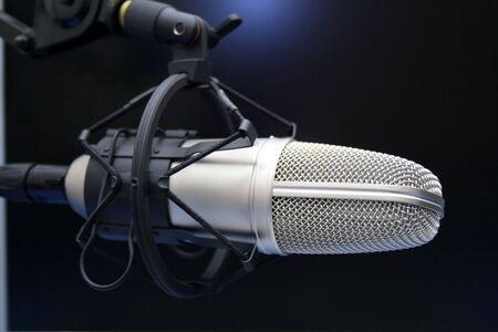 Radio mic on dark background Stock Photo - 3148334