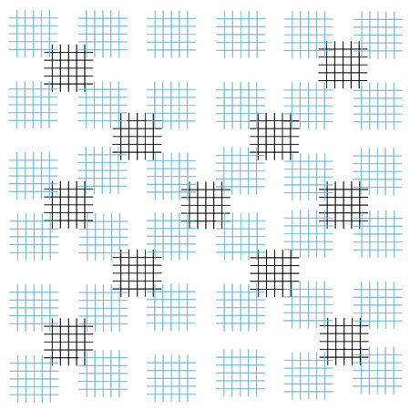 pattern criss cross square touches the line Illustration
