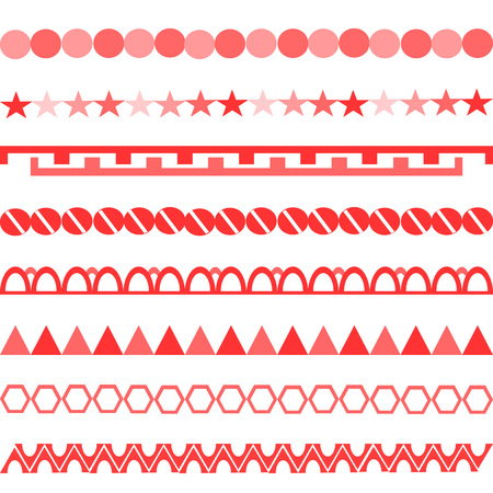 red chain pattern white background horizontal symbols