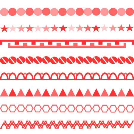 red chain pattern white background horizontal symbols