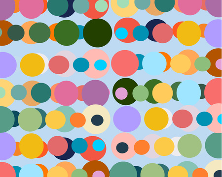 cute bright background with lots of colored balls Vetores
