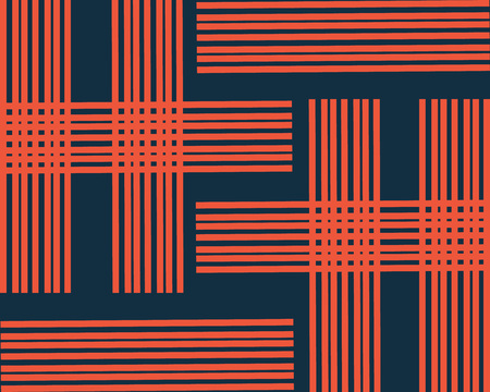 orange lines are depicted on a dark blue background Çizim