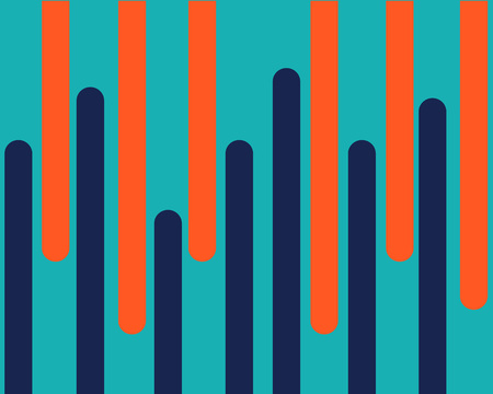 blue orange is the same line on a green background a different direction creating momentum