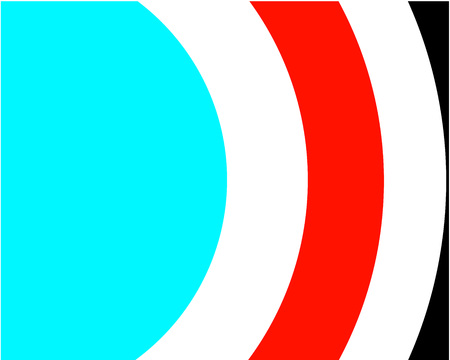 set of bright circles lines turquoise white red black