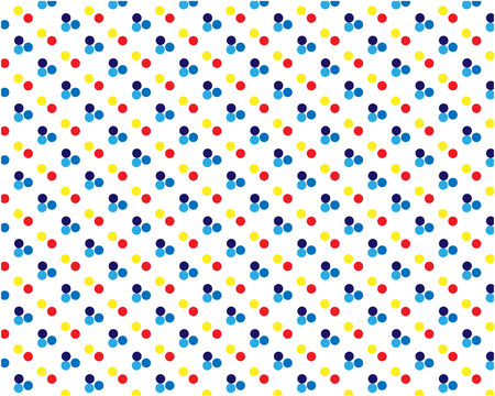 pattern with rounded spots drawn by hand. Simple endless girlish print. Girly vector illustration.